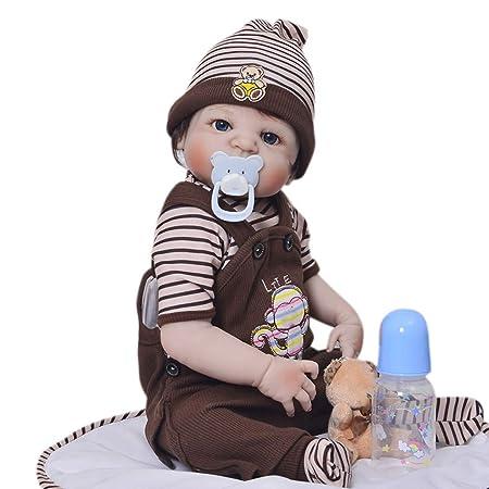Amazon.es: Muñecos bebé, Muñeca recién Nacida 57 cm Realista ...