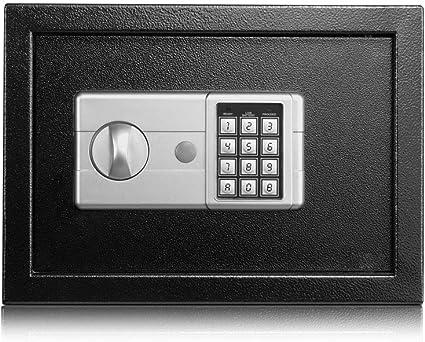 HYYQG Caja Fuerte ElectróNica De Seguridad Digital, CóDigo Llave Seguridad Operada En El Hogar Dinero Caja Fuerte Digital Caja Fuerte De Efectivo Seguridad Alta, Black: Amazon.es: Deportes y aire libre