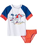 Little Girls Floatimini Rash Guard Beach Set Swimsuit