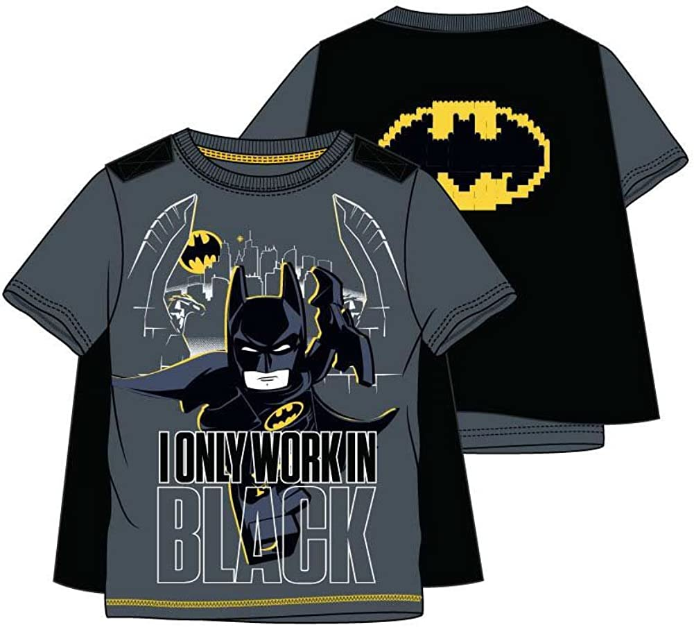 LEGO Batman - Camiseta de Manga Corta - para niño Gris 10 Años: Amazon.es: Ropa y accesorios