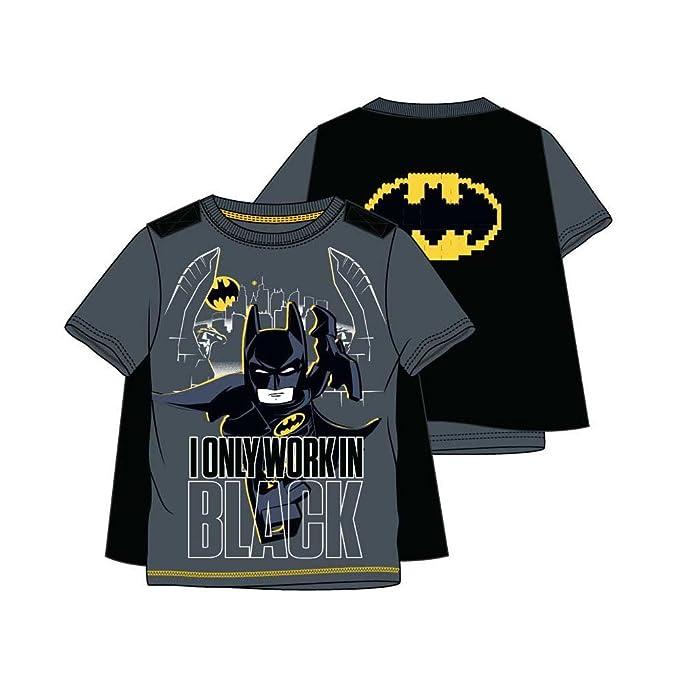 e15b6e067 lego batman - Camiseta de manga corta - para niño gris 10 Años  Amazon.es   Ropa y accesorios