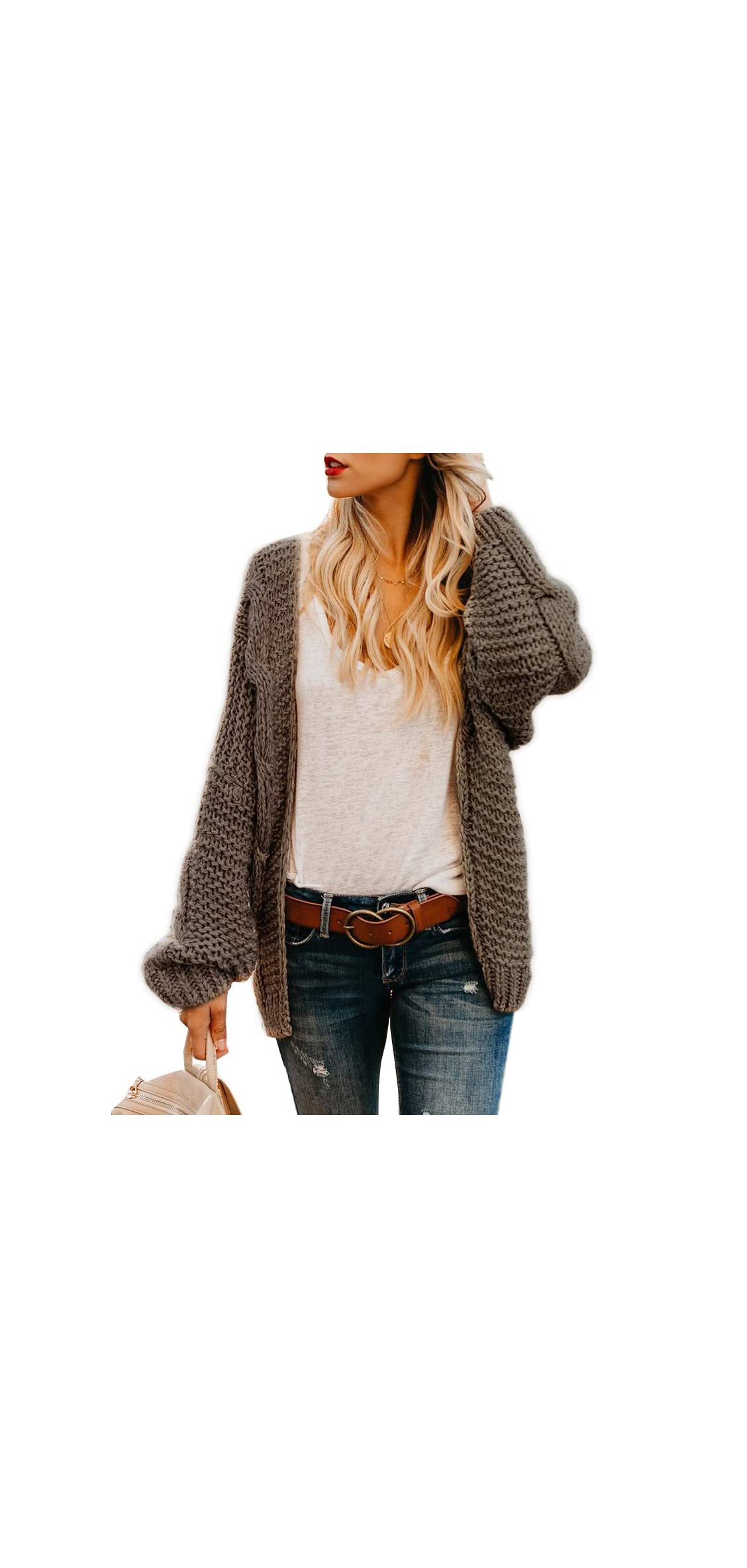 Plus Size Womens Cardigan Sweaters Cable Knit Chunky Oversized