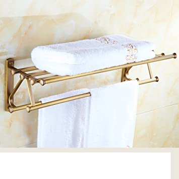 Brass European-wide Towel Bar Bathroom Towel rack metal pendants ...