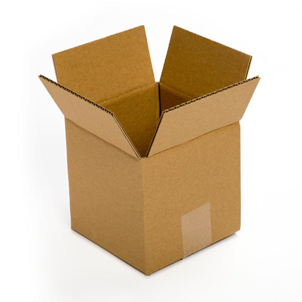 Pratt PRA0006 Recycled Corrugated Cardboard Single Wall Standard Cube Box with C Flute, 5'' Length x 5'' Width x 5'' Height, (Pack of 25)