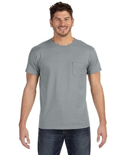 b8240151416a Hanes Mens Ringspun Cotton Nano-T T-Shirt with Pocket (498P) | Amazon.com