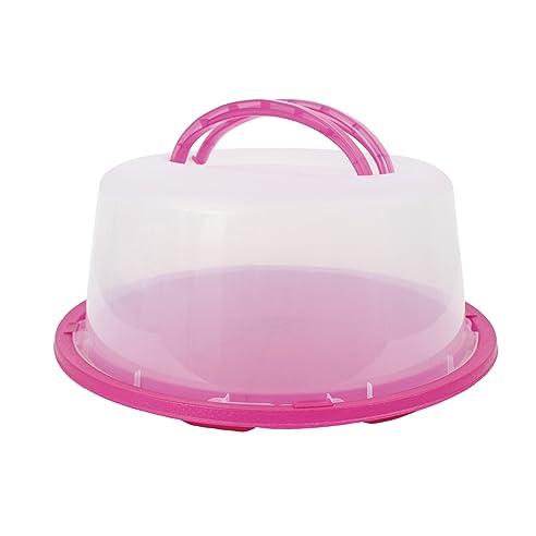 258) Kuchen Behälter Tortenbehälter Pink Tortenhaube Kuchenhaube