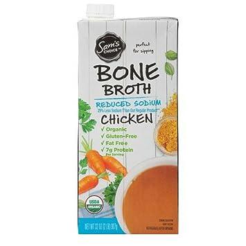 amazon com sam s choice organic chicken bone broth reduced sodium rh amazon com
