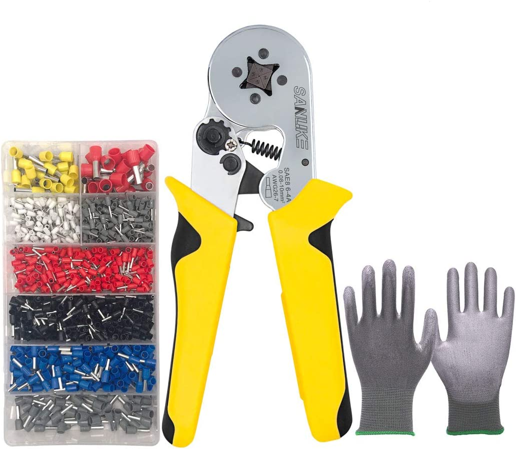 Self Adjustable With 1200 Terminal Connector Hand Tool Crimping Pliers Sets