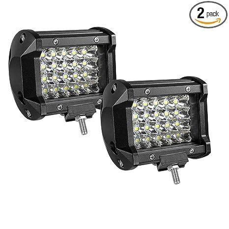 LED Light Bar 4Inch 60W Off-Road LED Work Lights Bright Super Bright Spotlight Waterproof Driving Light for ATV UTV SUV Jeep Boat 2pcs,Easy to Install