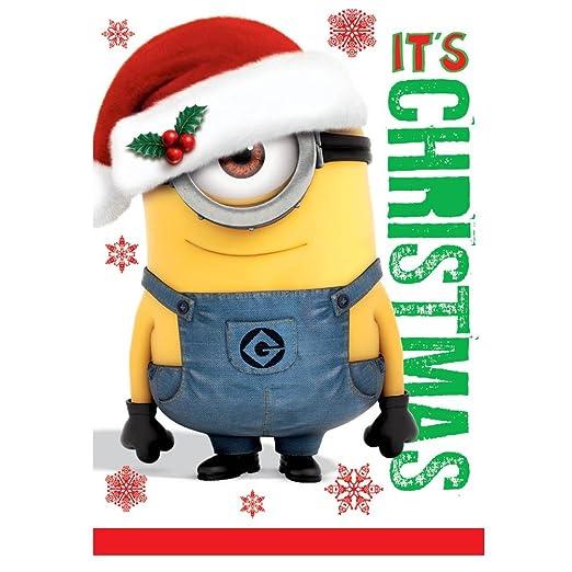 Frohe Weihnachten Minions.Despicable Me It S Christmas Mit Sound Weihnachten Card Minions