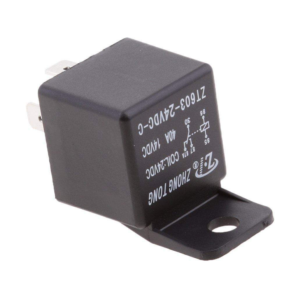 Almencla 3PCS Automotriz//Bici//Barco 40A Rel/é 24V DC SPDT 5 Pin Coche Abierto Rel/és Normales