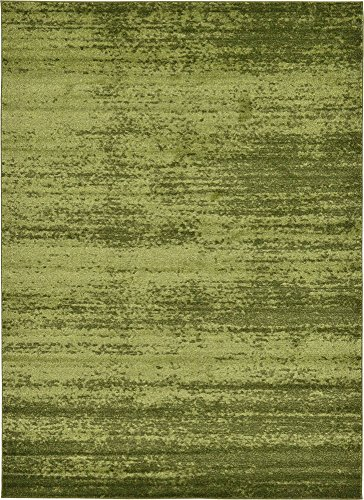 Unique Loom Del Mar Collection Contemporary Transitional Green Area Rug (7' 0 x 10' 0)