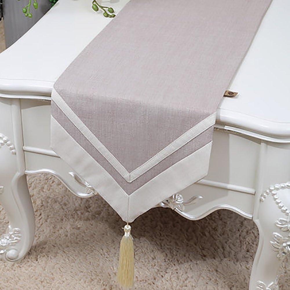 TABLE RUNNER Camino de mesa Vintage Natural Mantel de lino color ...