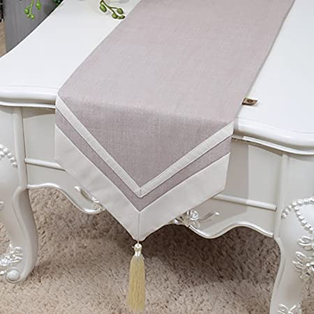 TABLE RUNNER Camino de mesa Vintage Natural Mantel de lino color ...