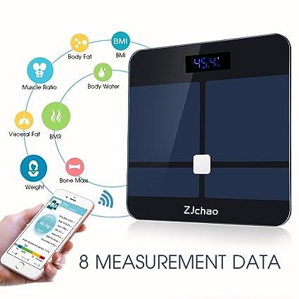 Balanza digital de análisis corporal, báscula de baño.