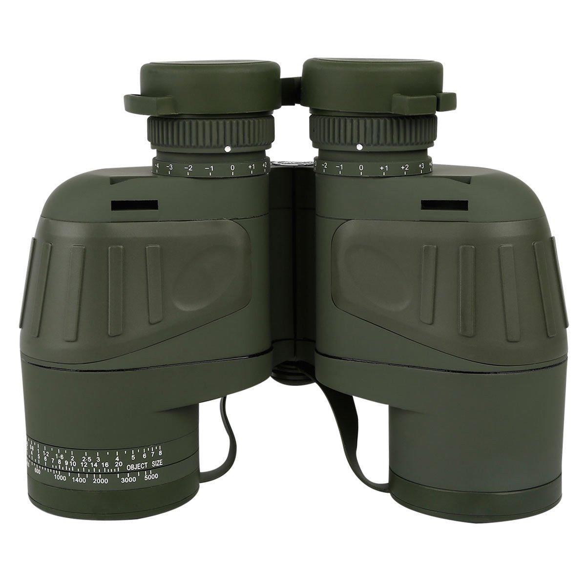 TC-Home 10X50 Night Vision Binoculars Marine Waterproof w/Rangefinder&Compass (Green) by TC-Home