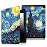 Fintie Case for Kindle Voyage - [The Thinnest and Lightest] Protective PU Leather Slim Shell Cover with Auto Sleep / Wake for Amazon Kindle Voyage (2014), Starry Night