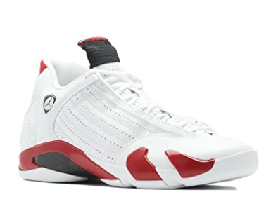 best service 88355 cc88f Image Unavailable. Image not available for. Color  Jordan Air 14 Retro White  Varsity Red Black Mens Basketball Shoes ...