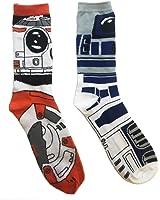 Star Wars BB-8 R2-D2 Droids Mens Casual Crew Sock Set Pack of 2
