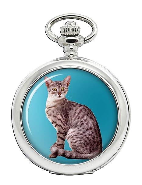 Mau egipcio gato Full Hunter reloj de bolsillo