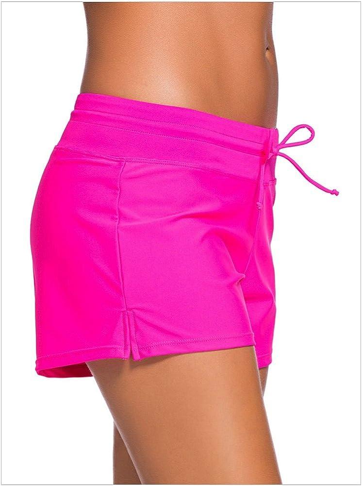 Sorrica Women Swim Shorts Casual Tankini Swimsuit Bottom Swim Board Shorts with Adjustable Drawstring
