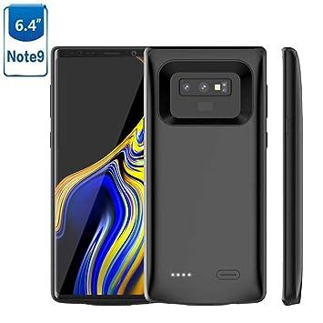 HOTSO 2 en 1 Funda Batería Cargador para Samsung Galaxy Note 9, 5000mAh Batería Externa Carcasa Silicona Fina Powerbank 360 Grados Protección, ...