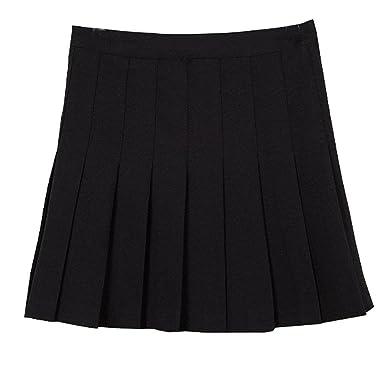 Amazon.com: MIXMAX Women High Waist Pleated Mini Tennis Skirt ...