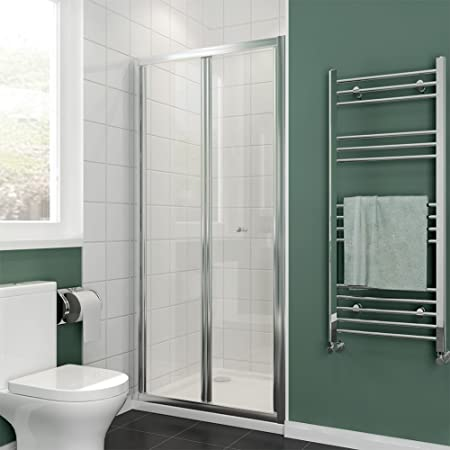 Elegant 860mm Bi Fold Glass Shower Door Enclosure Screen Amazon
