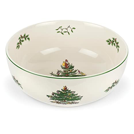 spode christmas tree serving bowl 9 inch