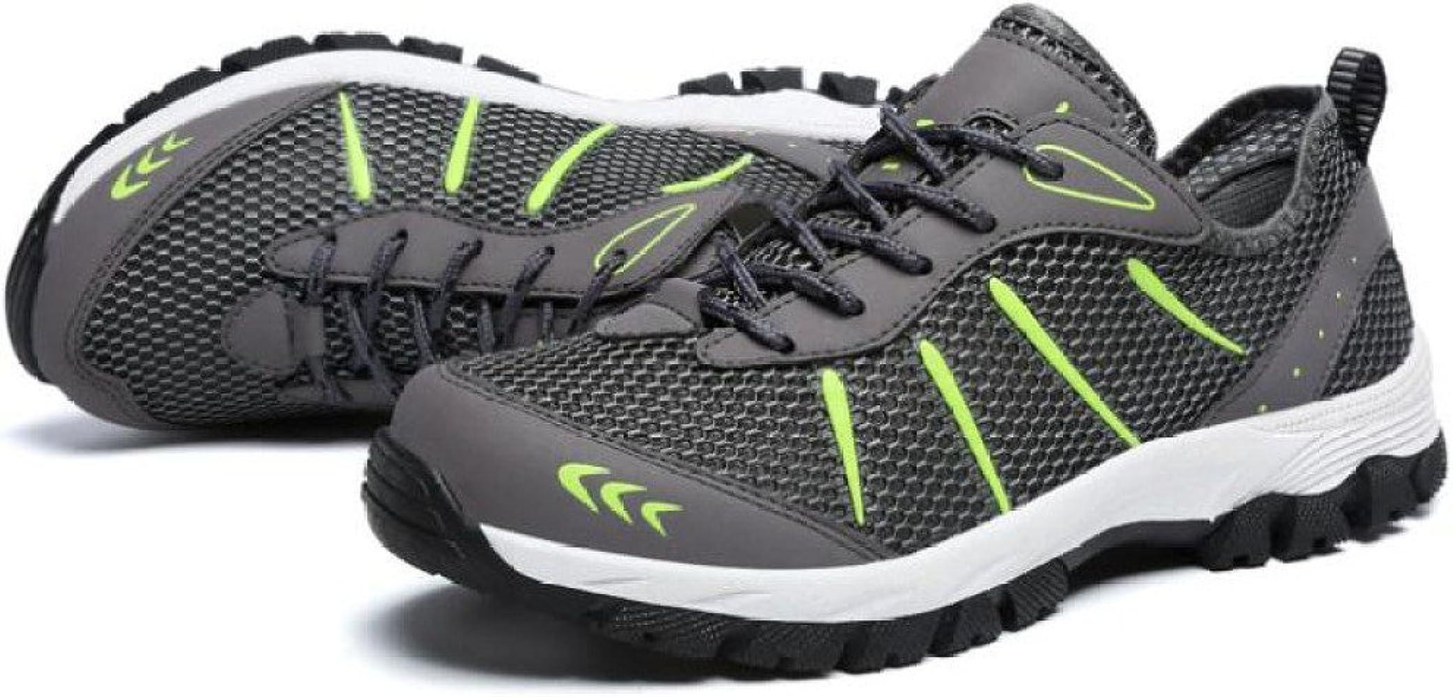 LDZY Tallas Grandes Zapatos De Senderismo Para Hombre Material De Malla Exterior Zapatos Antideslizantes Trekking Al Aire Libre,Grey-EU48/UK10.5: Amazon.es: Ropa y accesorios