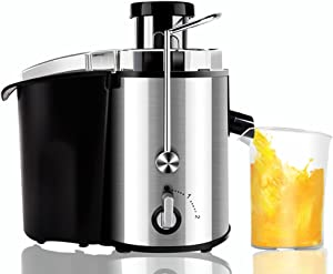 Whole fruit juicer, 2 speeds adjustable Multifunctional Big mouth Masticating juicers, Bpa free-A