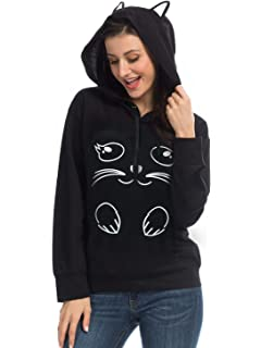 PERSUN Cute Cat Ear/Unicorn Pullover Hoodie Long Sleeve Kangaroo Pouch Sweatshirts Hoody