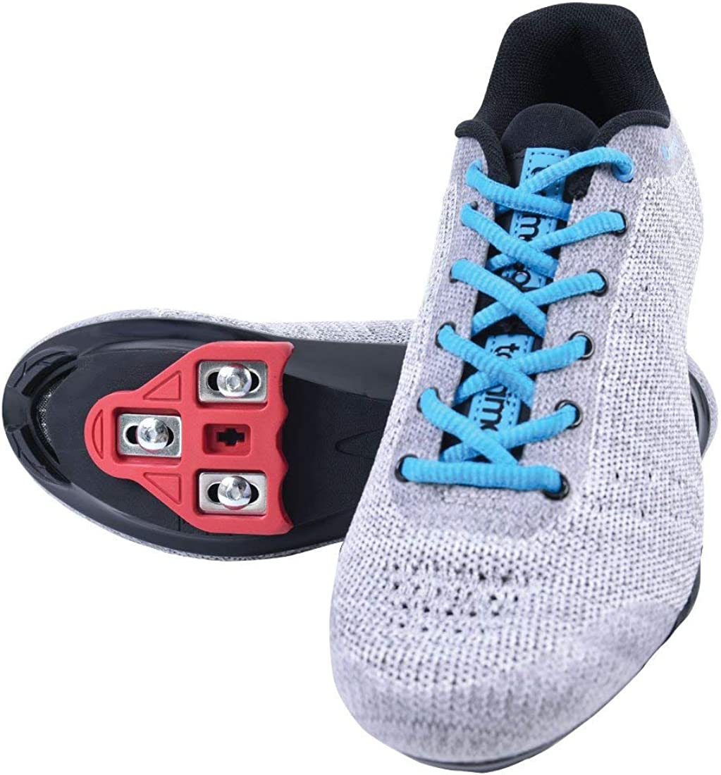 Pink White Black Look Delta Tommaso Pista Womens Indoor Cycling Ready Cycling Shoe Bundle with Compatible Cleat SPD Blue