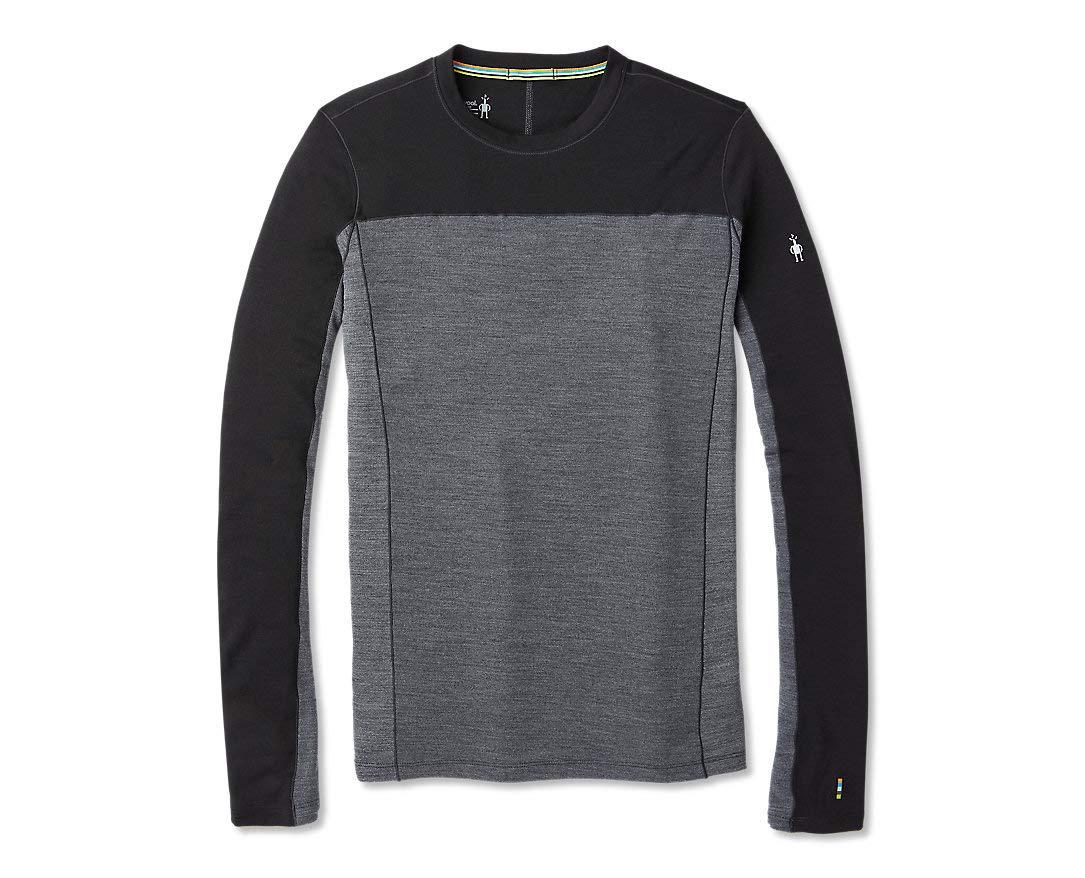Noir M intelligentwool Merino Sport 250 manche longue Crew T- T-Shirt Homme