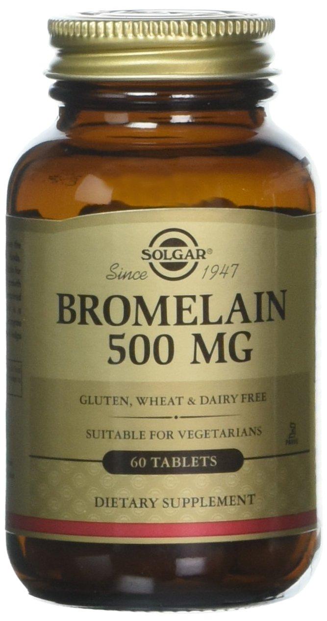 Solgar – Bromelain 500 mg, 60 Tablets