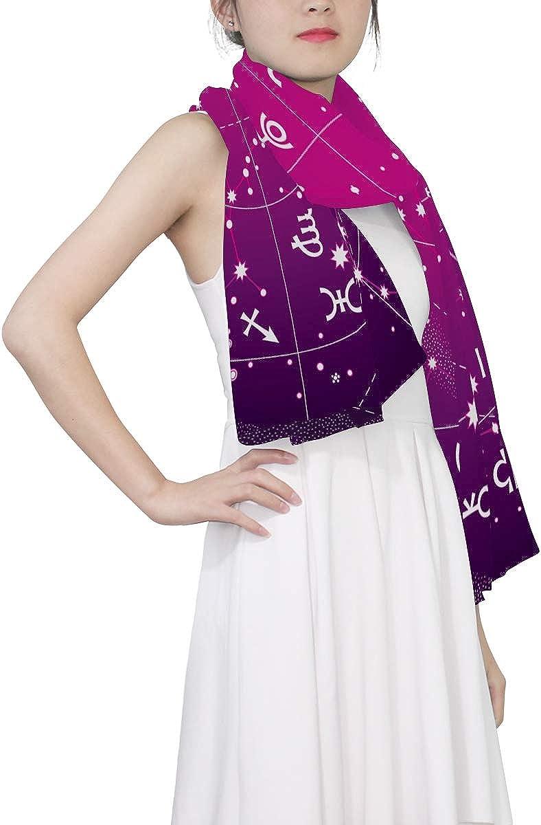 EELa Long Shawl for Women Lightweight Soft Stars Constellation Print Wrap Scarf 70x35 inches
