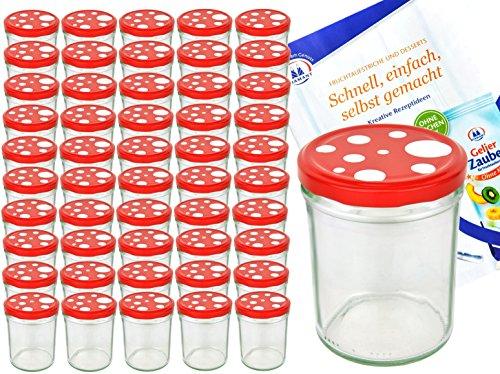 MamboCat Einmachgläser 50er Set Marmeladenglas Sturzglas + Deckel I robuste Einweckgläser 435ml + Twist Off Deckel Ø…