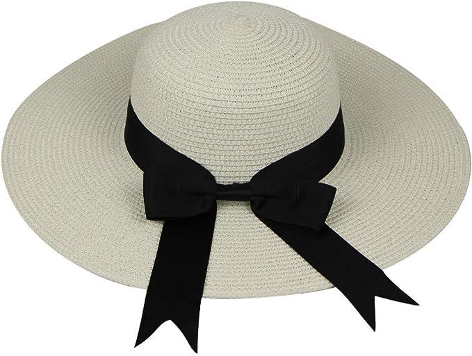 TUDUZ Mujer Sombrero Al Aire Libre Sombrero De Paja Sombrero De ...