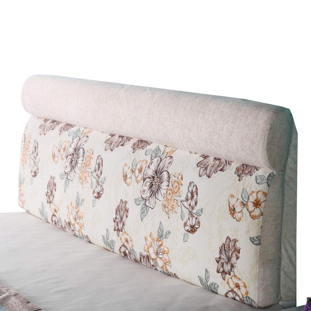 ヘッドボードクッション快適バックレスト読む寝室ジャカード極細繊維 B 190cm) : サイズ 190cm Length (色 KKCF 、6サイズ B07LBRKJ48 さいず : Length 、2色 B,
