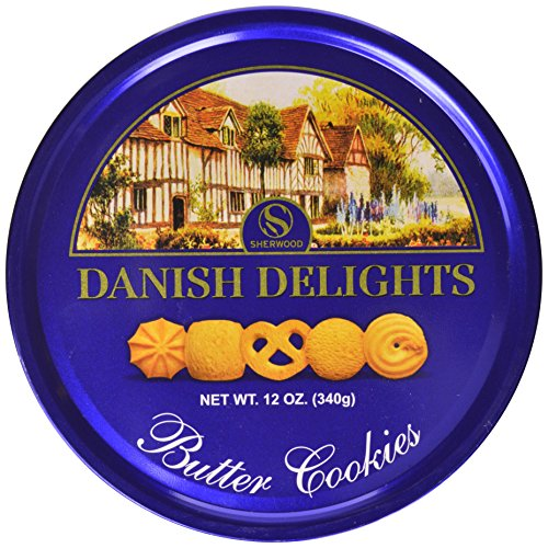 Cookie Holiday (Sherwood DANISH DELIGHTS Butter Cookies, In a Nice Gifting Tin, box (340g).)