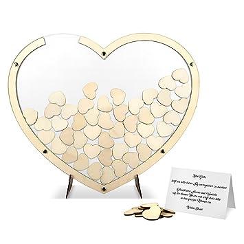 Holzherzchen unlackiert 10 x Tisch Hochzeit Dekoration G/ästebuch Alternativen Hochzeitsdekoration
