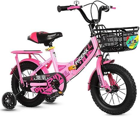 TSDS Bicicleta para niños Bicicleta Plegable Moda para niños Bicicleta para niña, niña, 4 Ruedas, para niños Coche 12 Pulgadas / 14 Pulgadas / 16 Pulgadas / 18 Pulgadas con Bicicleta estabilizadora: Amazon.es: Deportes y aire libre