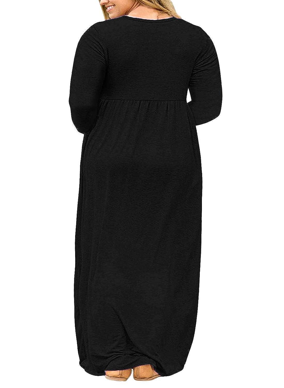 a629abe96606 Details about Nemidor Women Short Sleeve Loose Plain Casual Plus Size Long  Maxi Dress with