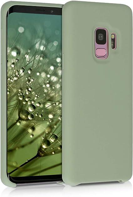 kwmobile Coque pour Samsung Galaxy S9 - Coque Étui Silicone - Housse de téléphone Vert Gris