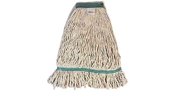 Pack of 12 Golden Star AST30S Sno-White Rayon Looped Wet Mop