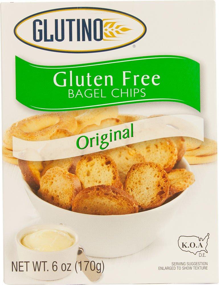 Glutino, Gluten Free, Original Bagel Chips, 6oz Box (Pack of 3) Nature' s Best