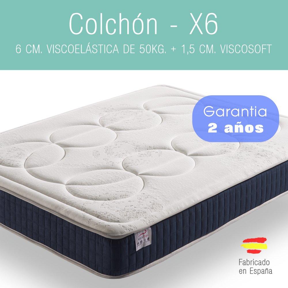 MKM - COLCHON - VISCOELASTICO - X6-180 x 105 - Garantía 2 años.: Amazon.es: Hogar