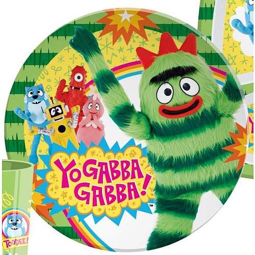amazon com 1 x yo gabba gabba plate by zak brobee kids toys games