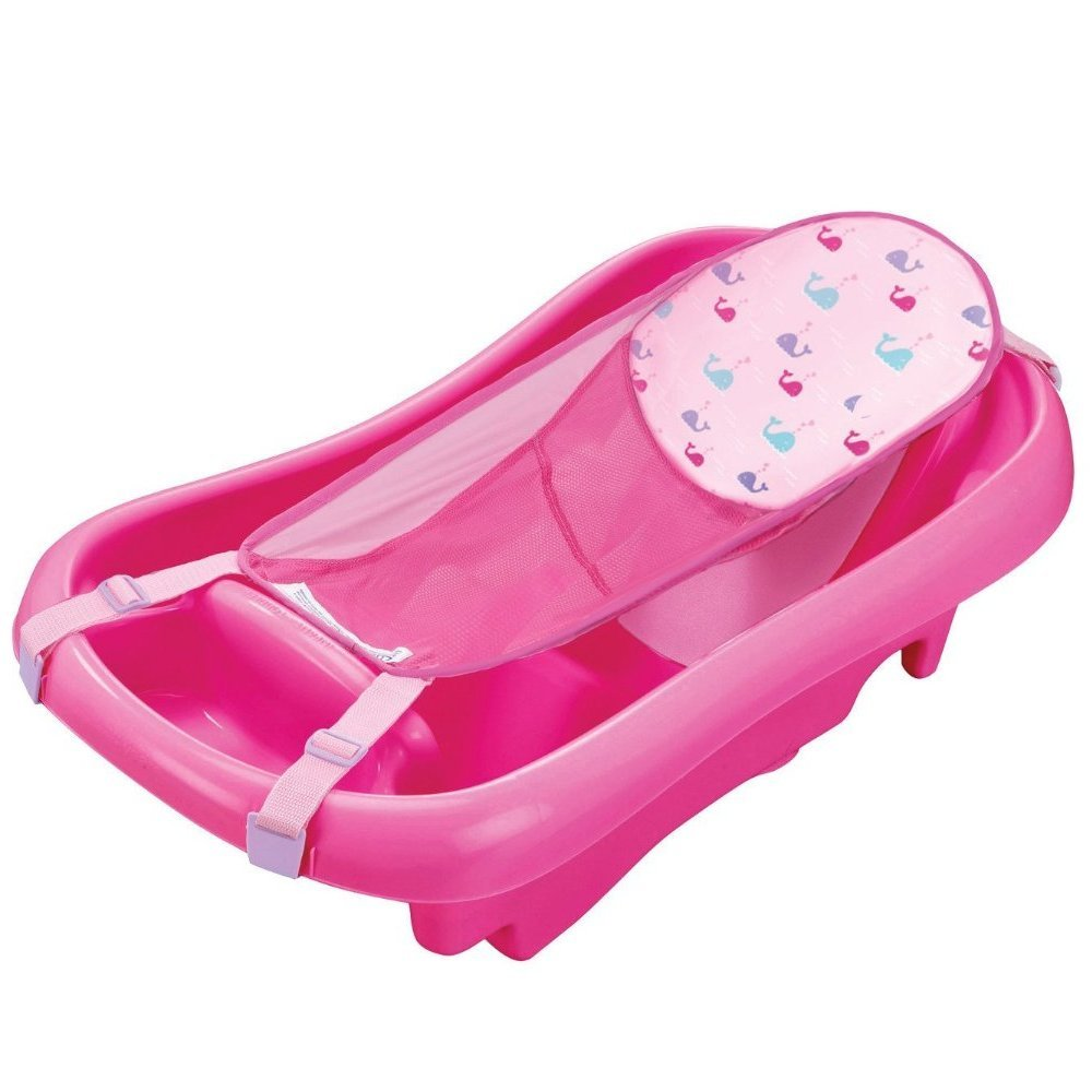 The First Years Sure Comfort Deluxe Newborn to Toddler Tub with Sling - Pink by The First Years
