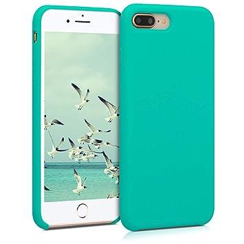 kwmobile Funda para Apple iPhone 7 Plus / 8 Plus - Carcasa de [TPU] para teléfono móvil - Cover [Trasero] en [Turquesa]